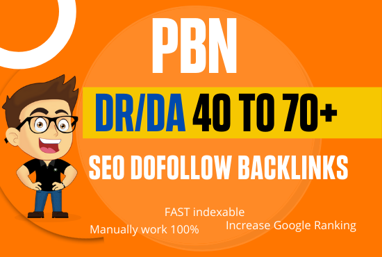 Build 50 High Quality PBN DA 40 to 70+ Backlinks Boost your Ranking