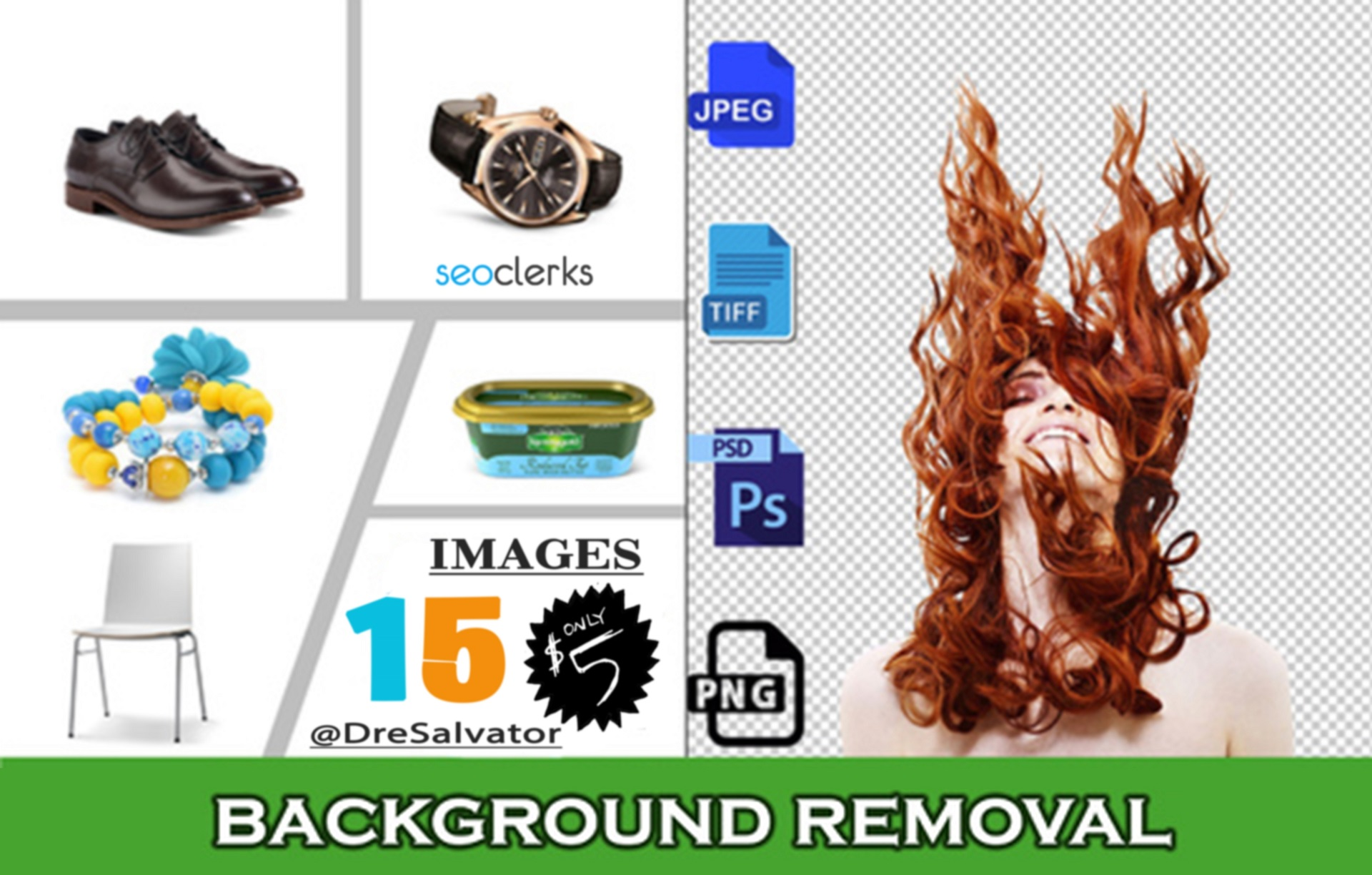 I Will Do 15 Background Removal On Your Images. Fast Delivery