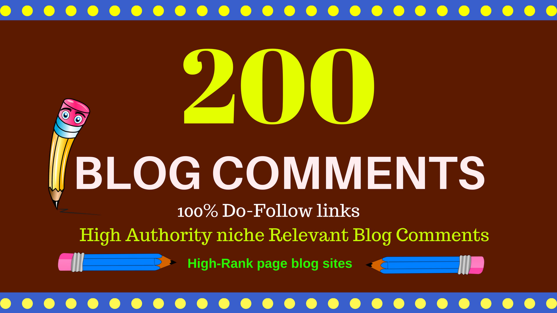 create 200 high quality blog comments backlinks unique domain,  for boost website