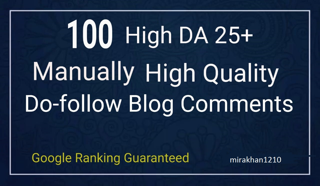 I will do 100 blog comments backlinks SEO link building