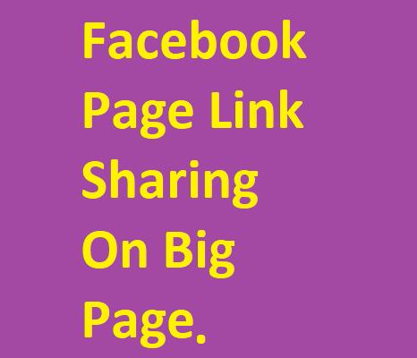 I am doing facebook link sharing on big facebook page link in description