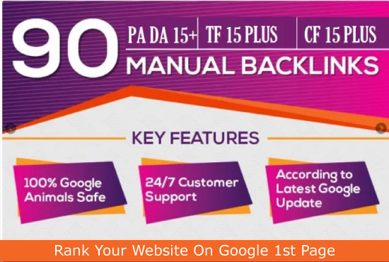 i will create 90 high authority backlinks blog comments