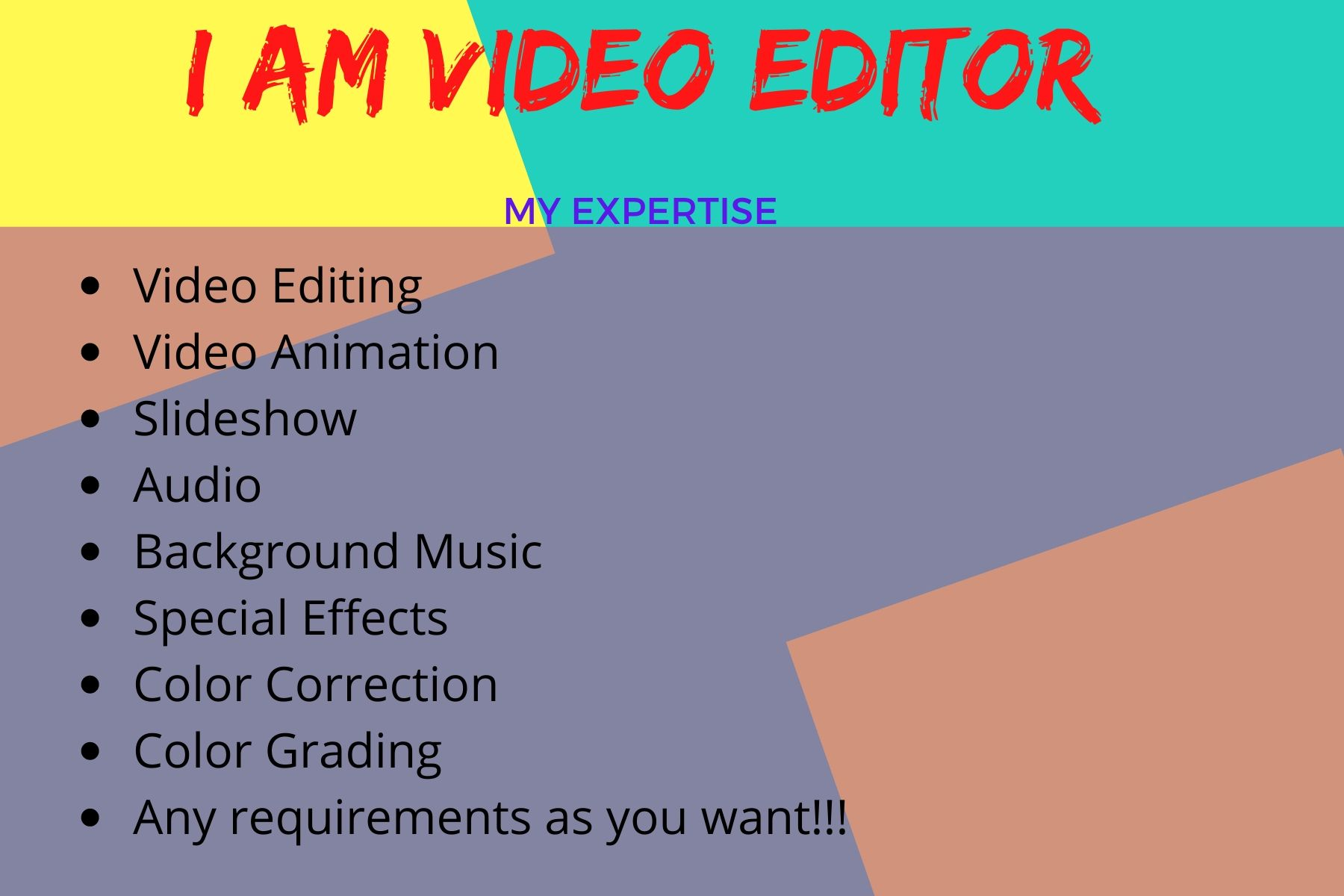I am Professional Video Editor