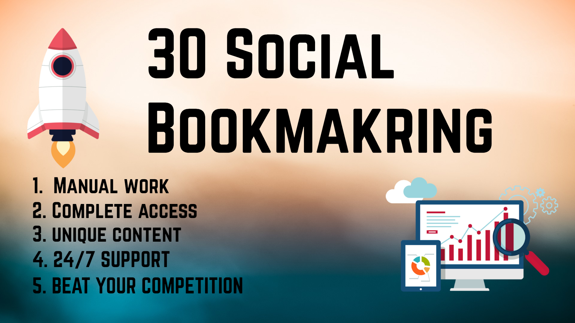 Create 30 Social Bookmarking For your website