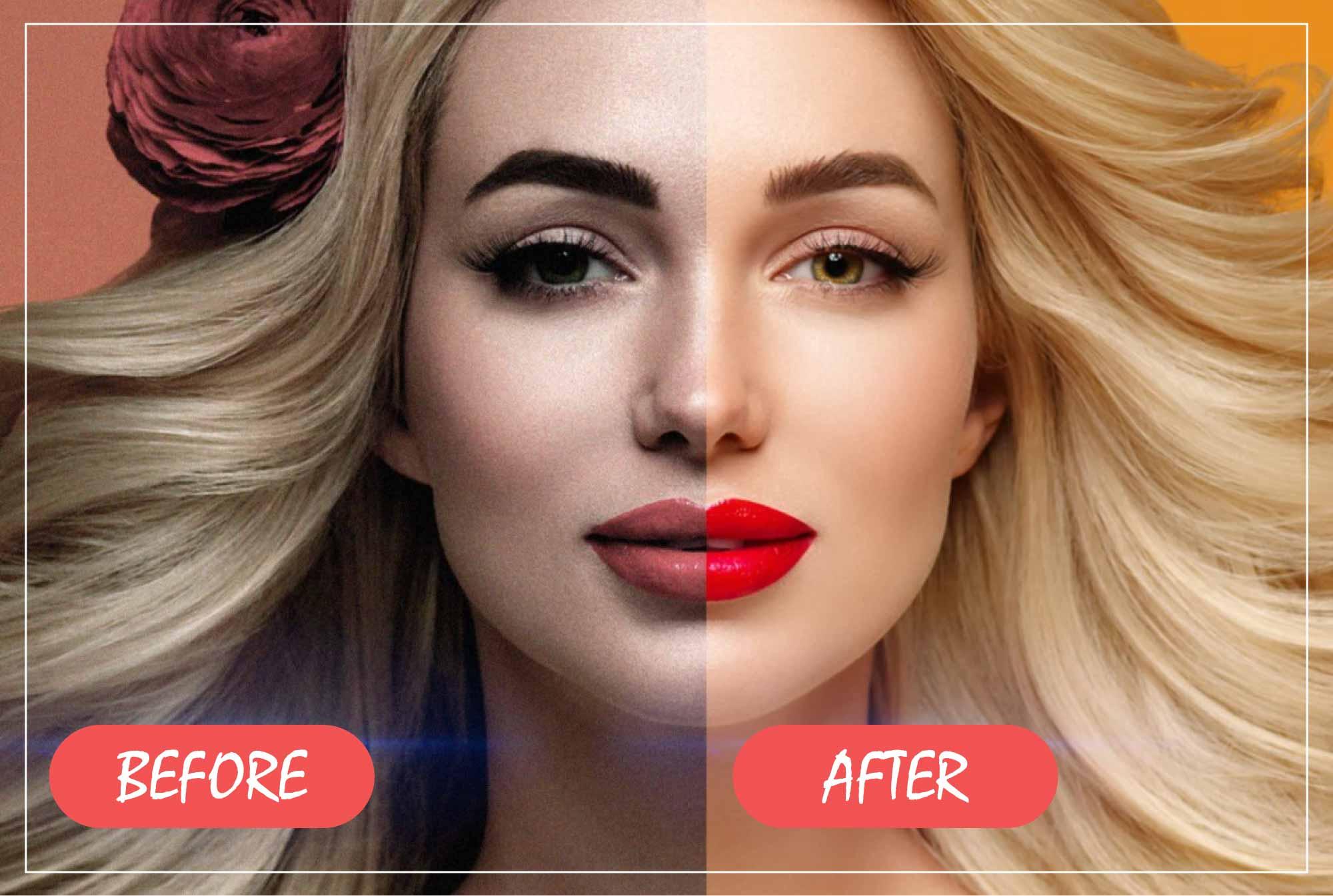 I will do professional portrait retouching business photo beautify