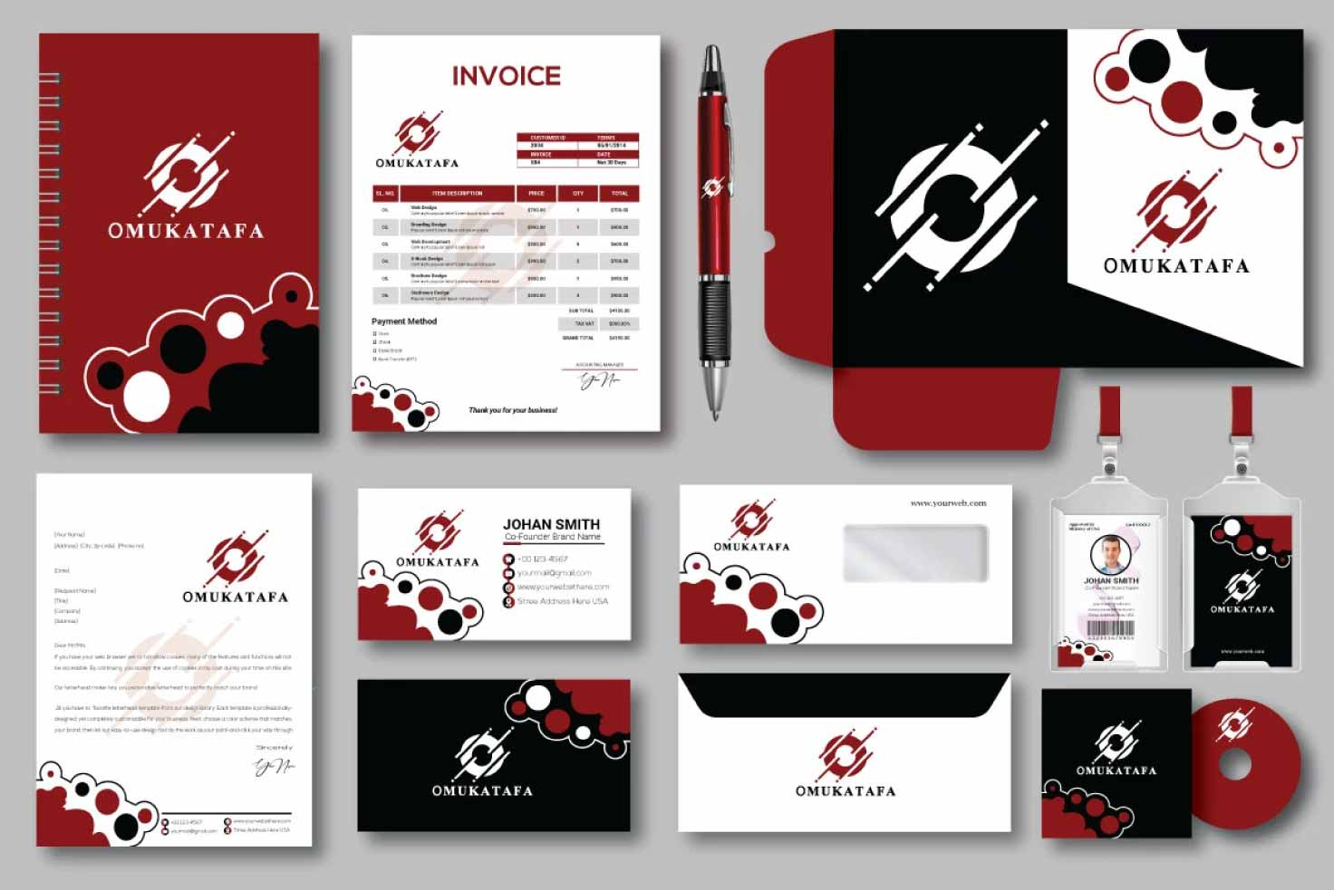 I will design business card letterhead and full stationery