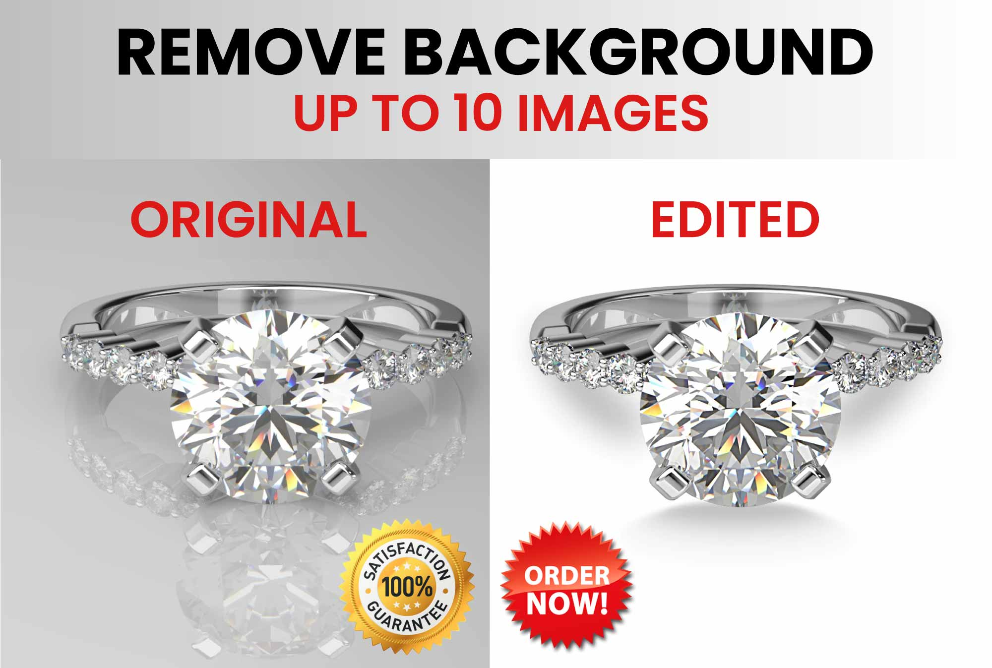 Remove background of 10 images manually