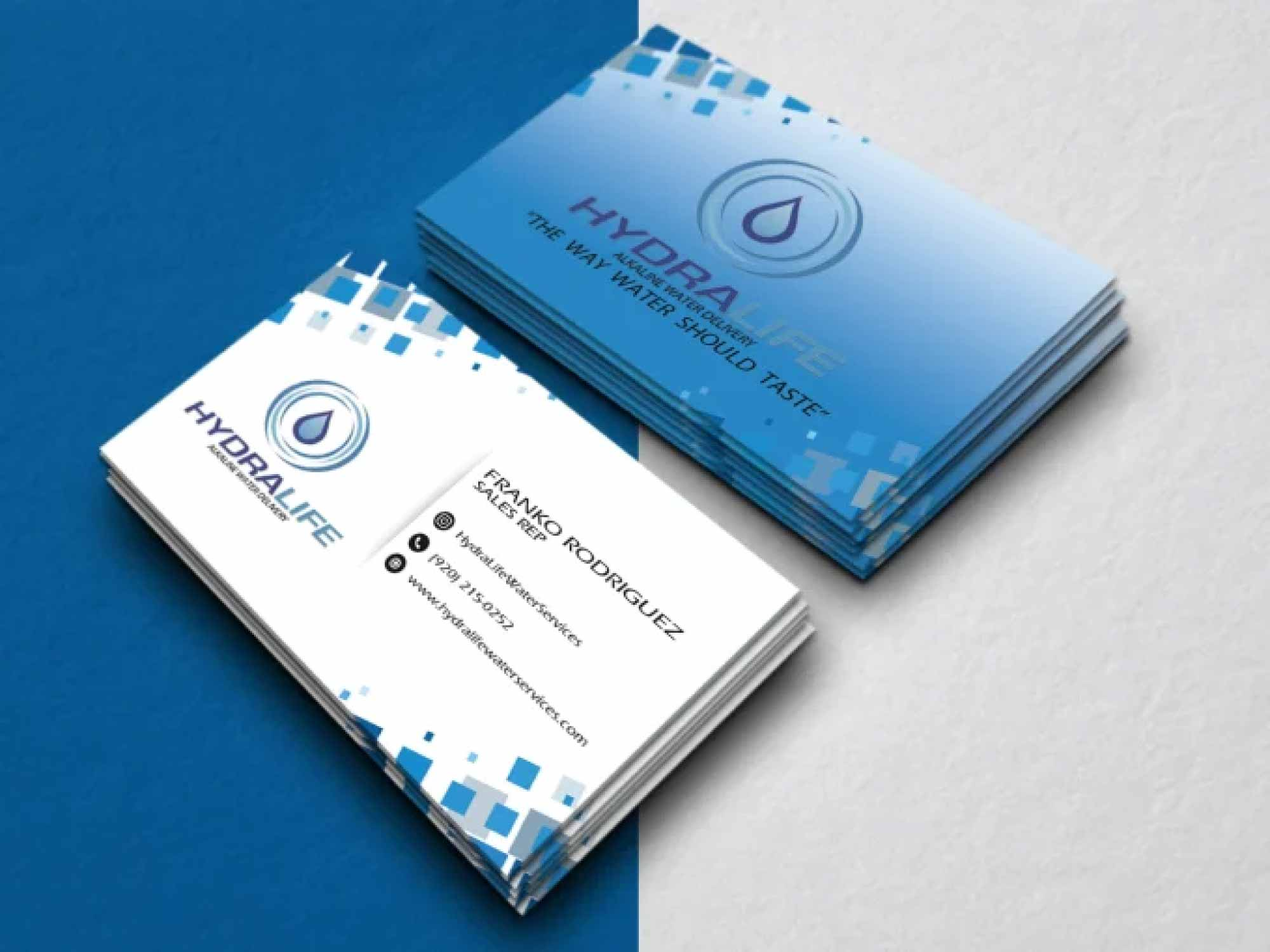 Create modern business card design