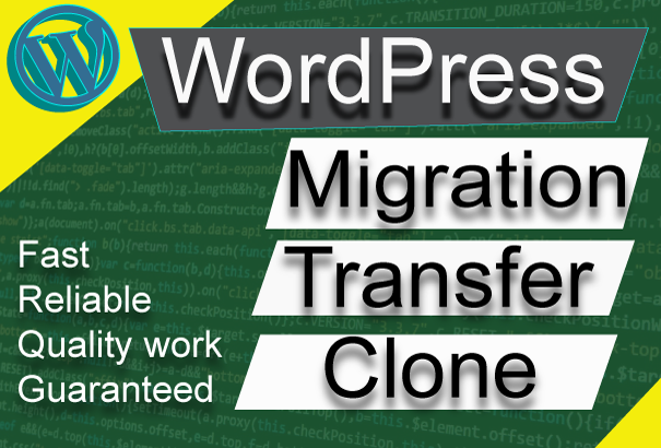migrate wordpress website to new server or domain in a few hours