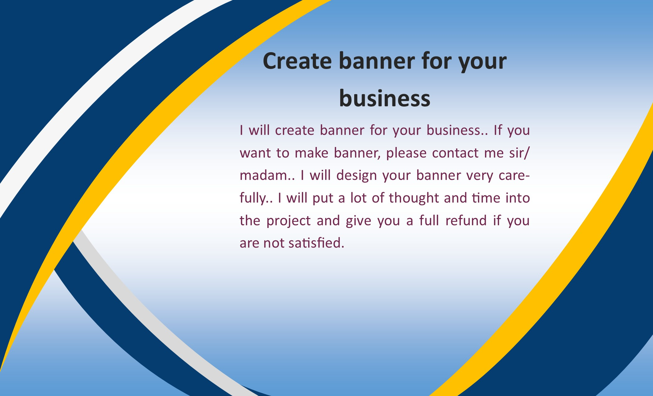 Create banner/logo for your business