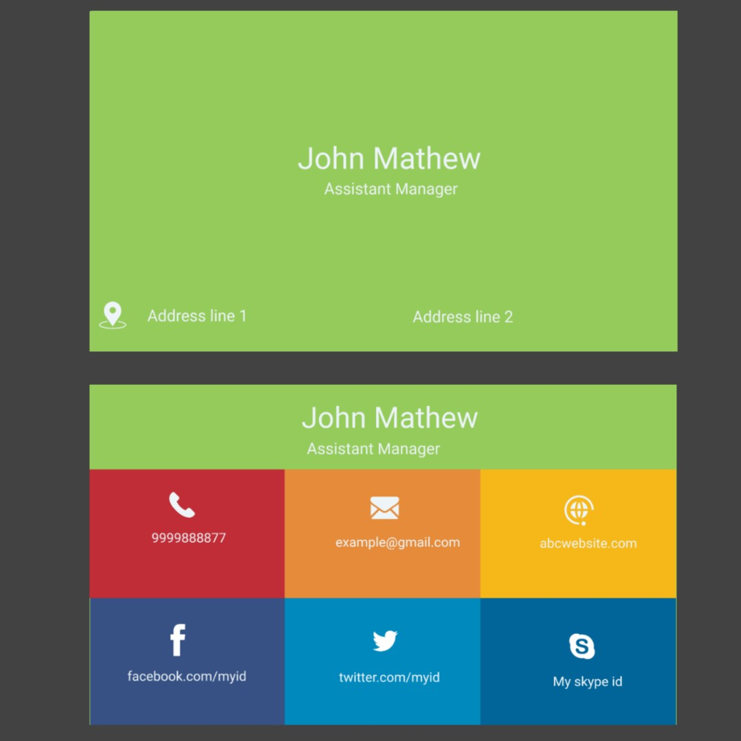 Business card outstanding design