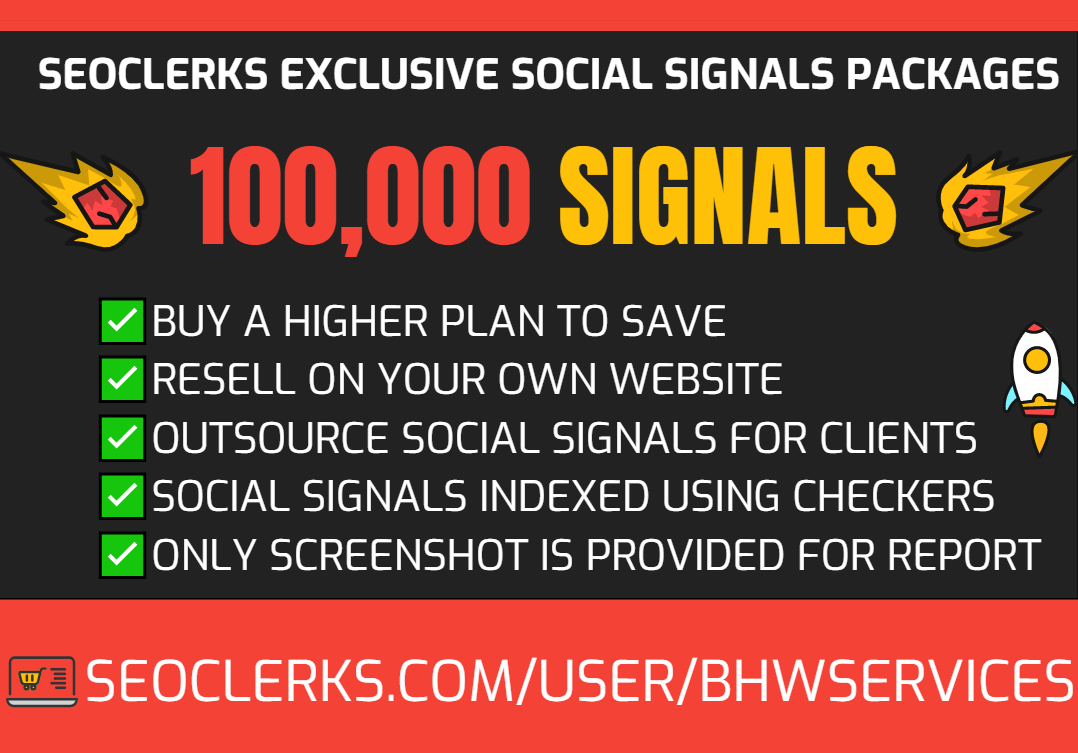 Get 100,000 Social Signals for SEO and Traffic Boost - High Authority Pages and Established Audience