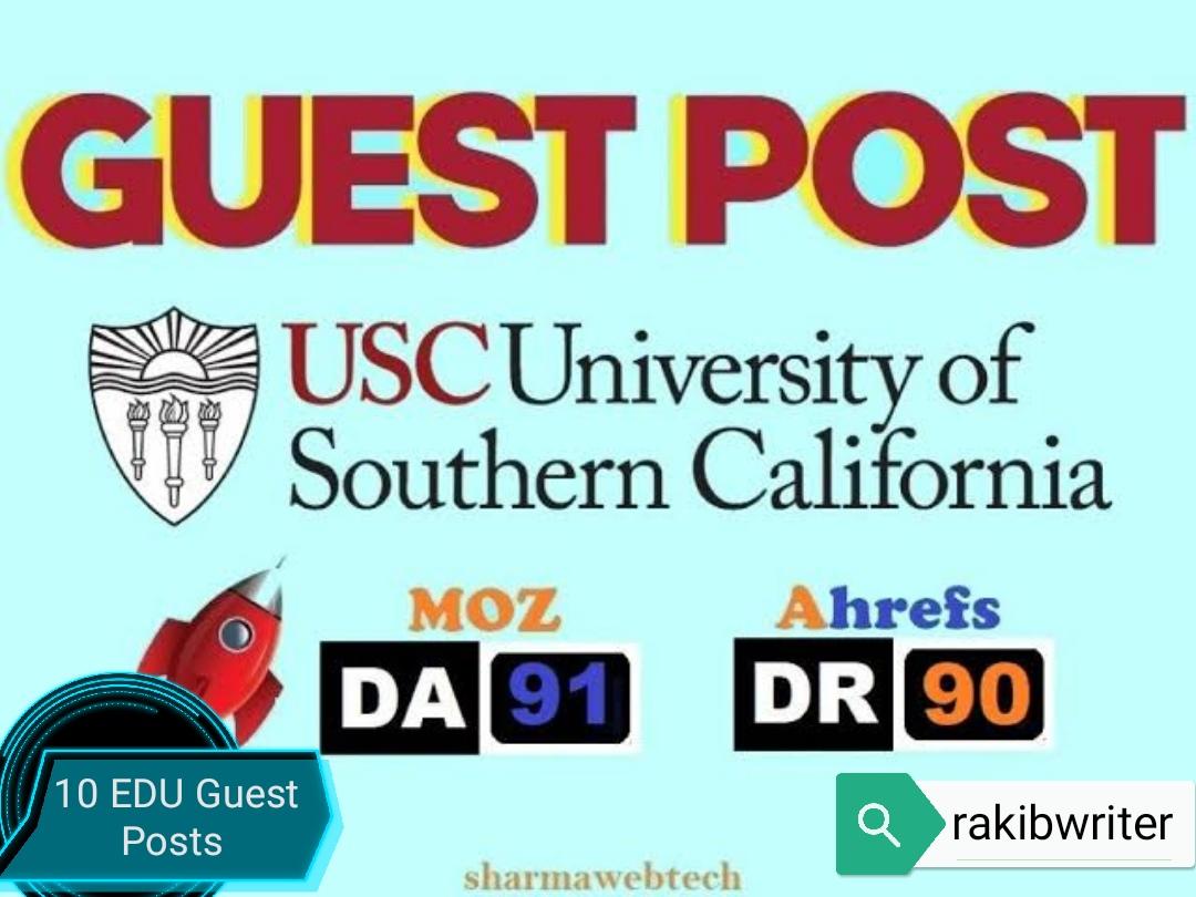 10 EDU Guest Posts Service for Edu Backlinks