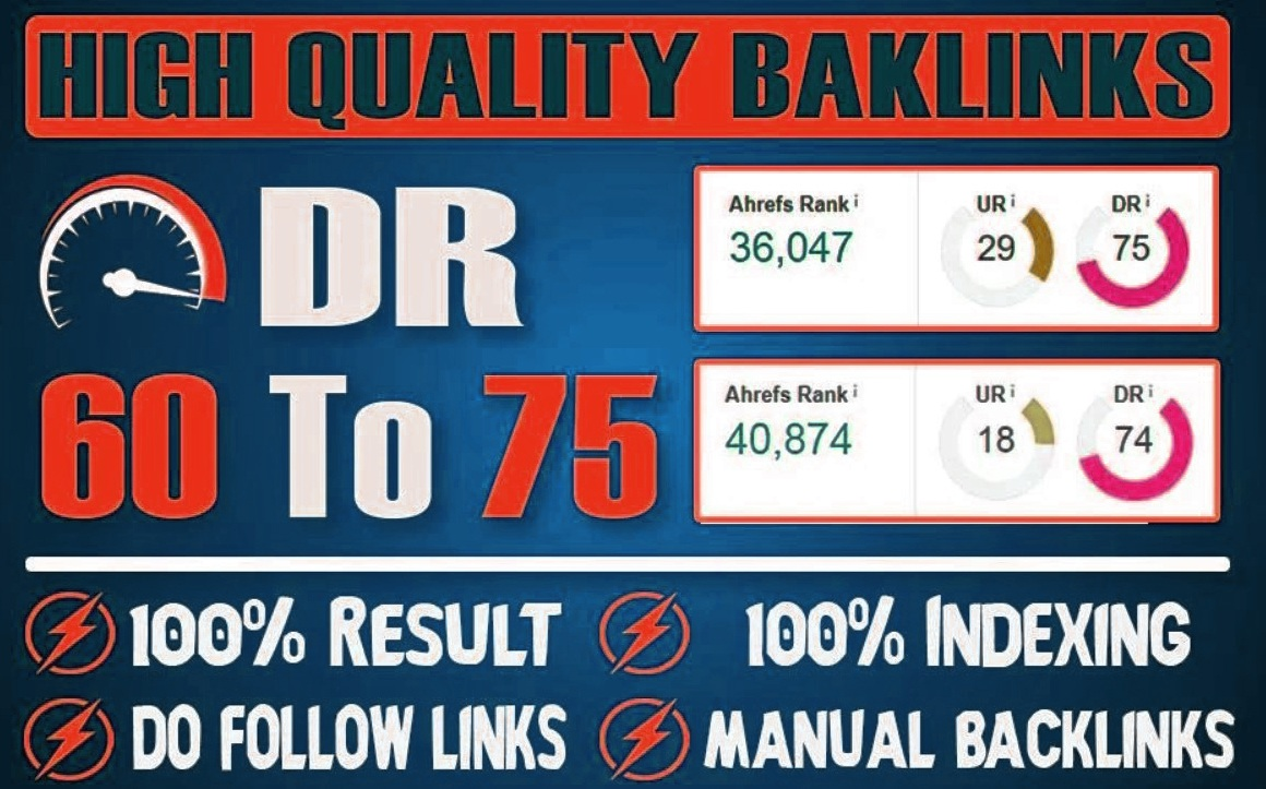 6 DR 60 to 70 pbn homepage dofollow backlinks