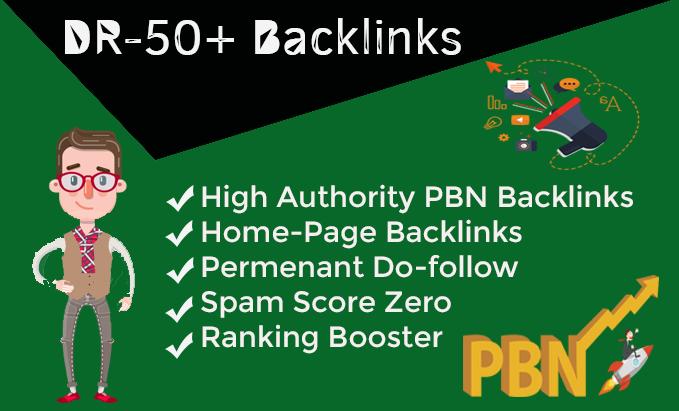 Provide 200 DR 50+ pbn homepage dofollow backlinks