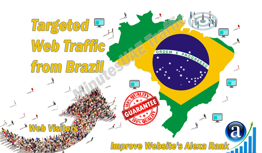 drive 1000 brazil real website high quality targeted visitors