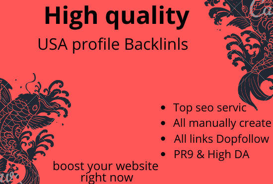 manually create 100+ USA pr9 da 90 dofollow profile backlinks
