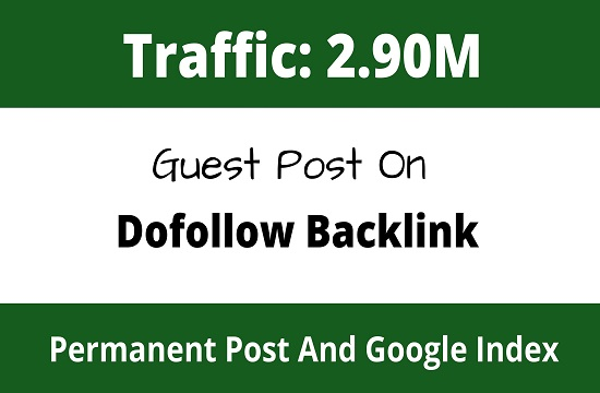 Publish Guest Post On High DA70+ Blog Website With Permanent Backlinks