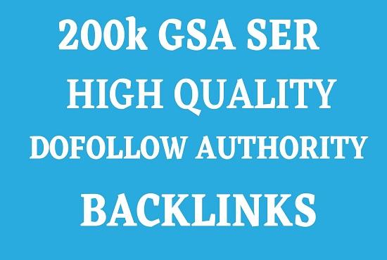 200k GSA SER Increase Link Juice And Index Faster On Google