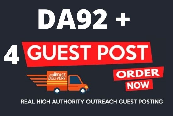 Write And 4 Guest Posts On High Authority DA92+ Sites