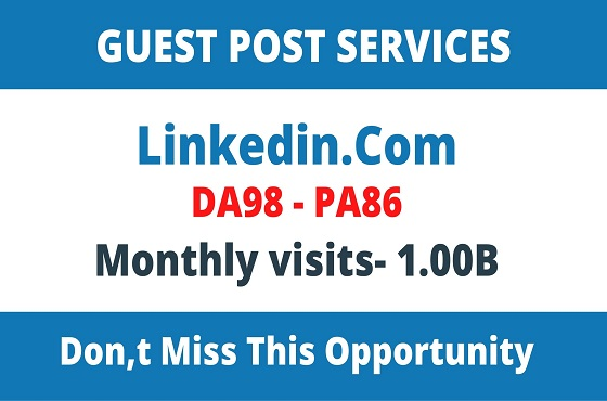 DA98+ Publish Guest Post On Linkedin. Com