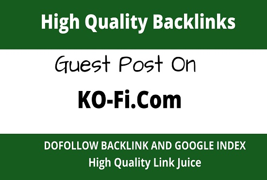 write and publish guest posts on ko-fi. com