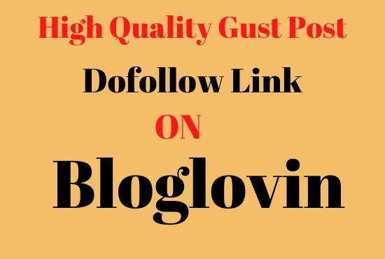write and publish guest post on high DA93 bloglovin