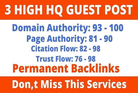 DA93+ Publish 3 Guest Post High Website Boost In Ranking