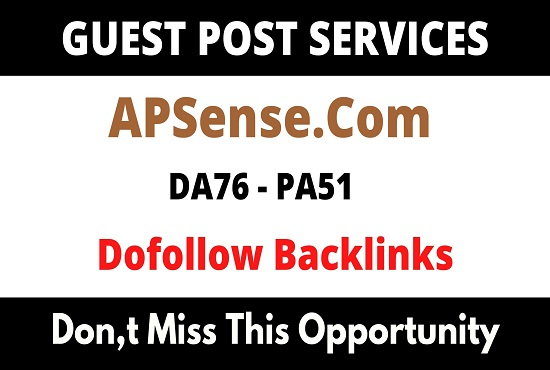 Publish Guest Blog On DA76 Apsense. com with Dofollow backlinks