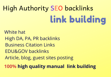 50 high DA dofollow backlinks link building
