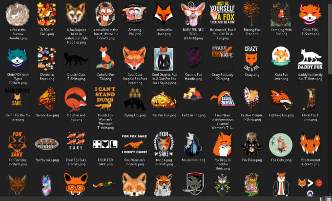 approx 4,500 png animal niche designs