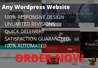 create modern and pixel perfect wordpress website design