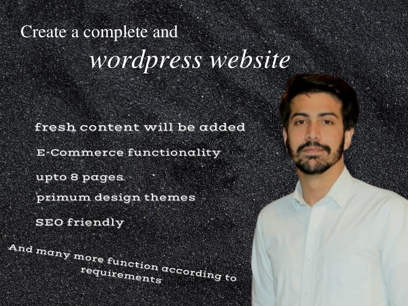 I will build responsive wordpress website design,  blog and e commerce functionalities