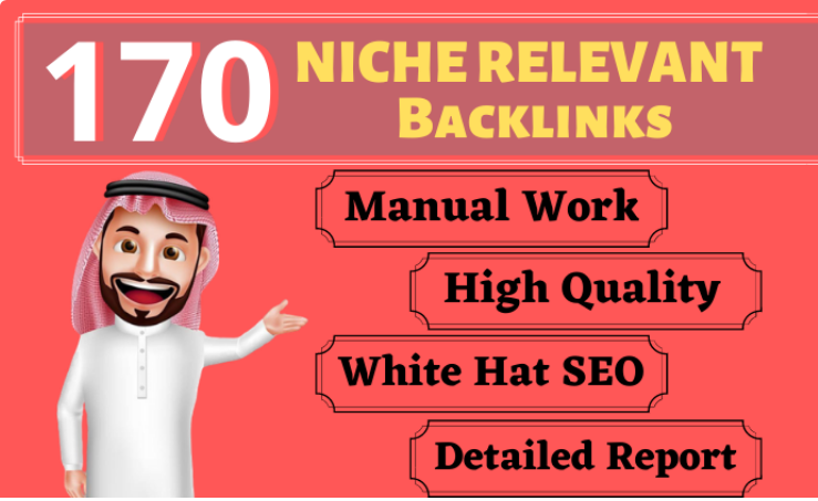 170 Blog Comment Niche Relevant Backlinks High DA PA google Rank Website Low Obl Traffic