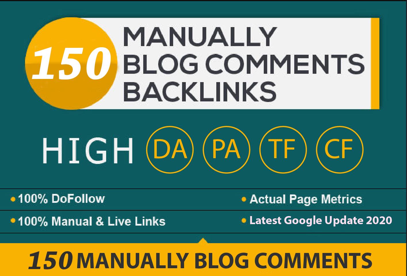 150 Blog Commenting Dofollow Backlinks Low Obl High DA PA google Rank Website Traffic