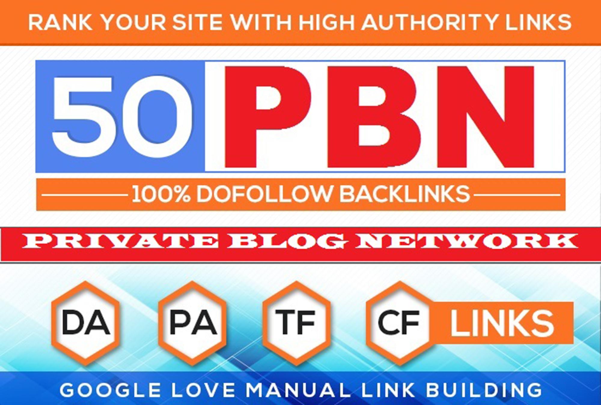Super 50 PBN Permanent DA PA TF CF Moz Authority Backlinks
