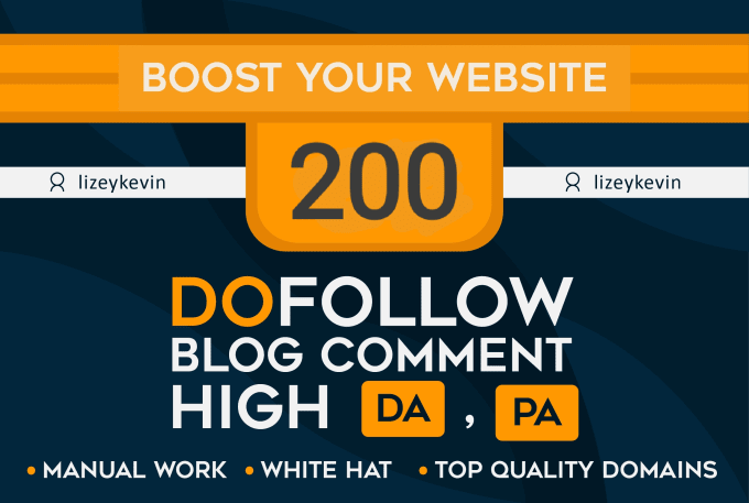 Total 200 DoFollow BLOG COMMENTS BACKLINKS- For google ranking