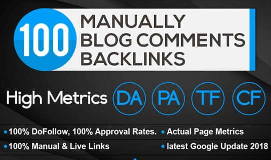 100 DoFollow Fantastic Blog Comment Backlinks on High DA PA TF CF