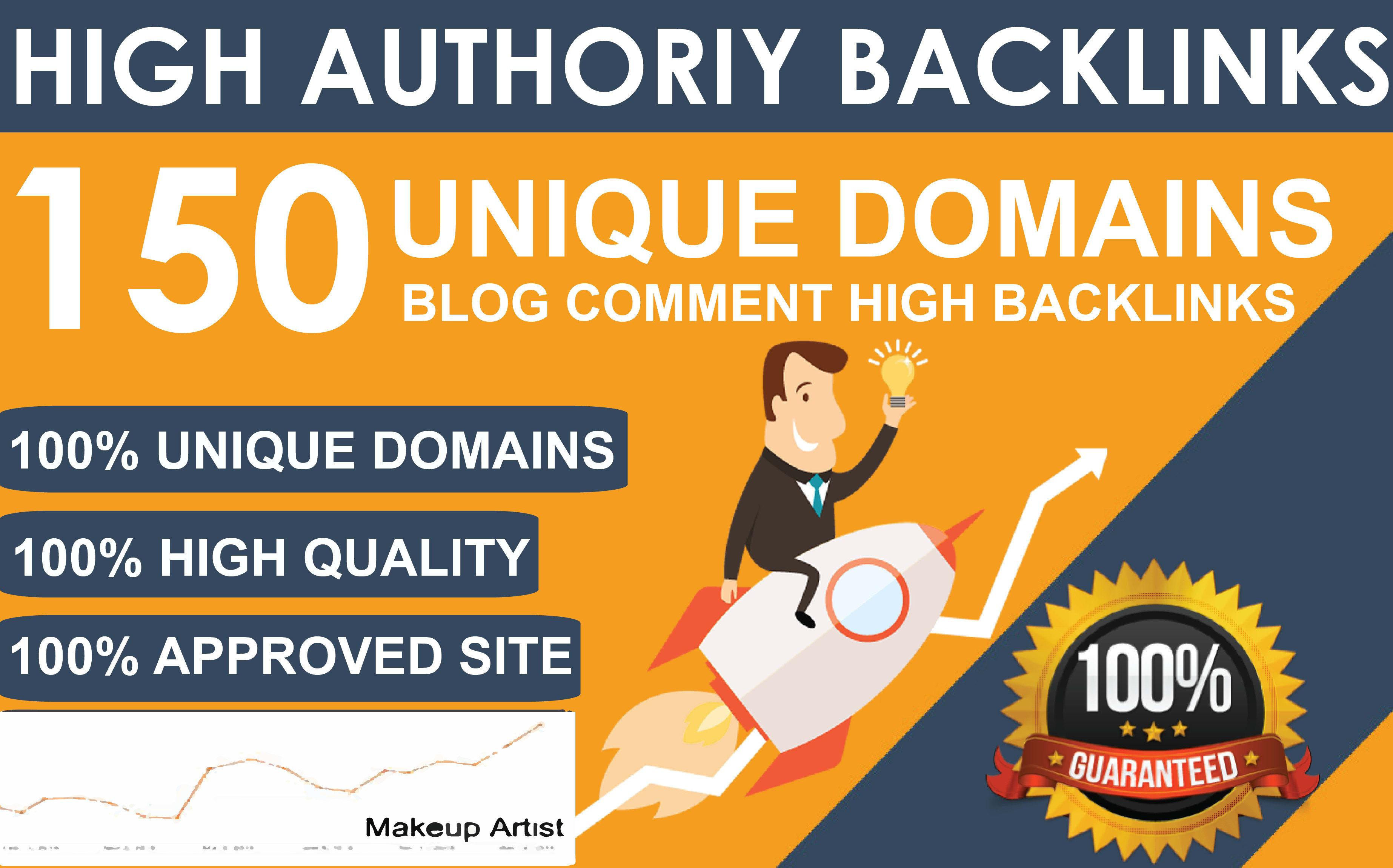 150 Unique Domains Blog Commenting Dofollow Backlinks High DA PA google Rank Obl Low Website Traffic