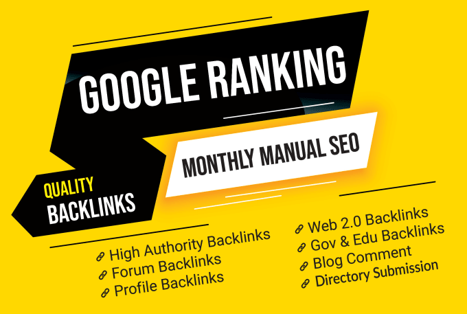 1st Page Ranking on google High Monthly Manual SEO Service With Blog Comment Backlinks