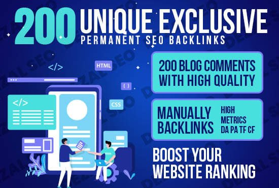 Bump Your WebSite With 200 High Quality Backlinks Dofollow