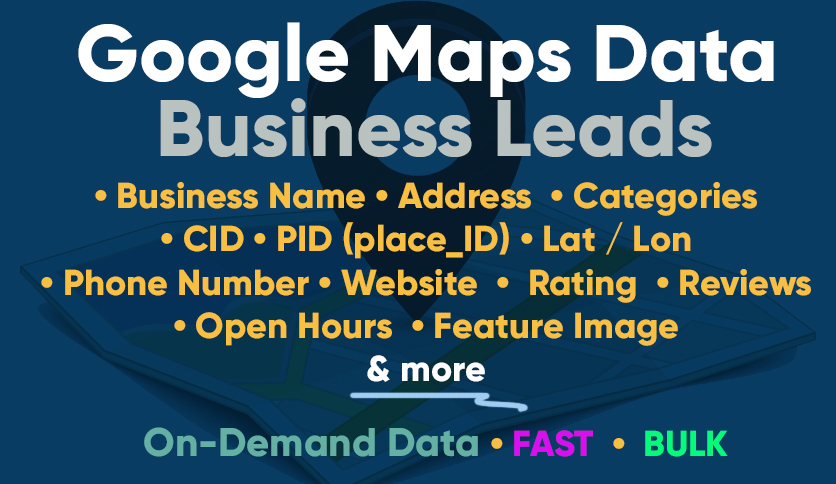 Google Maps (GMB) Data Scraping - On-Demand - Bulk & Fast!