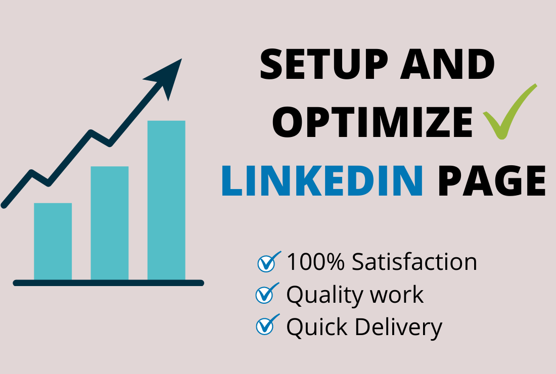 I will Setup and Optimise your LinkedIn Business Page