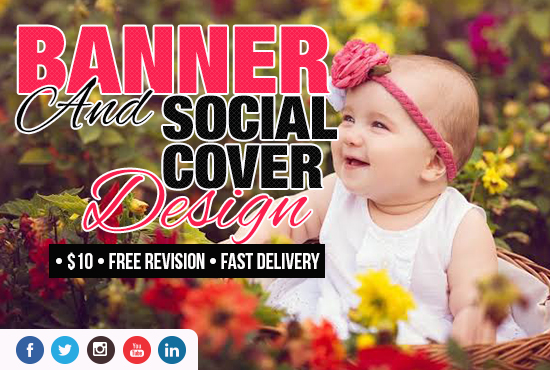 I will design Facebook page cover,  Banner ads,  Twitter and Youtube