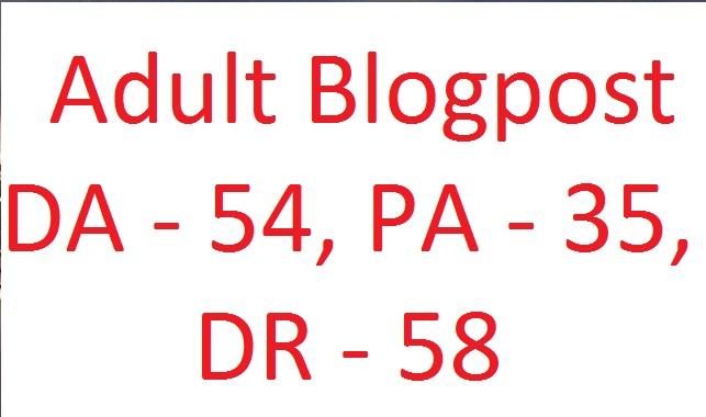Lifetime Adult Blog Article DA 54,  PA 35,  DR 59