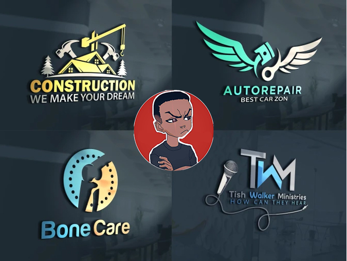I will design 2 professional creative and modern 3D & 2D logo for your business
