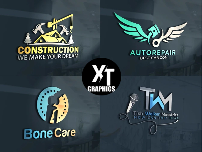 I Will Create 2 Professional 3D Logos With Unlimited Revisions