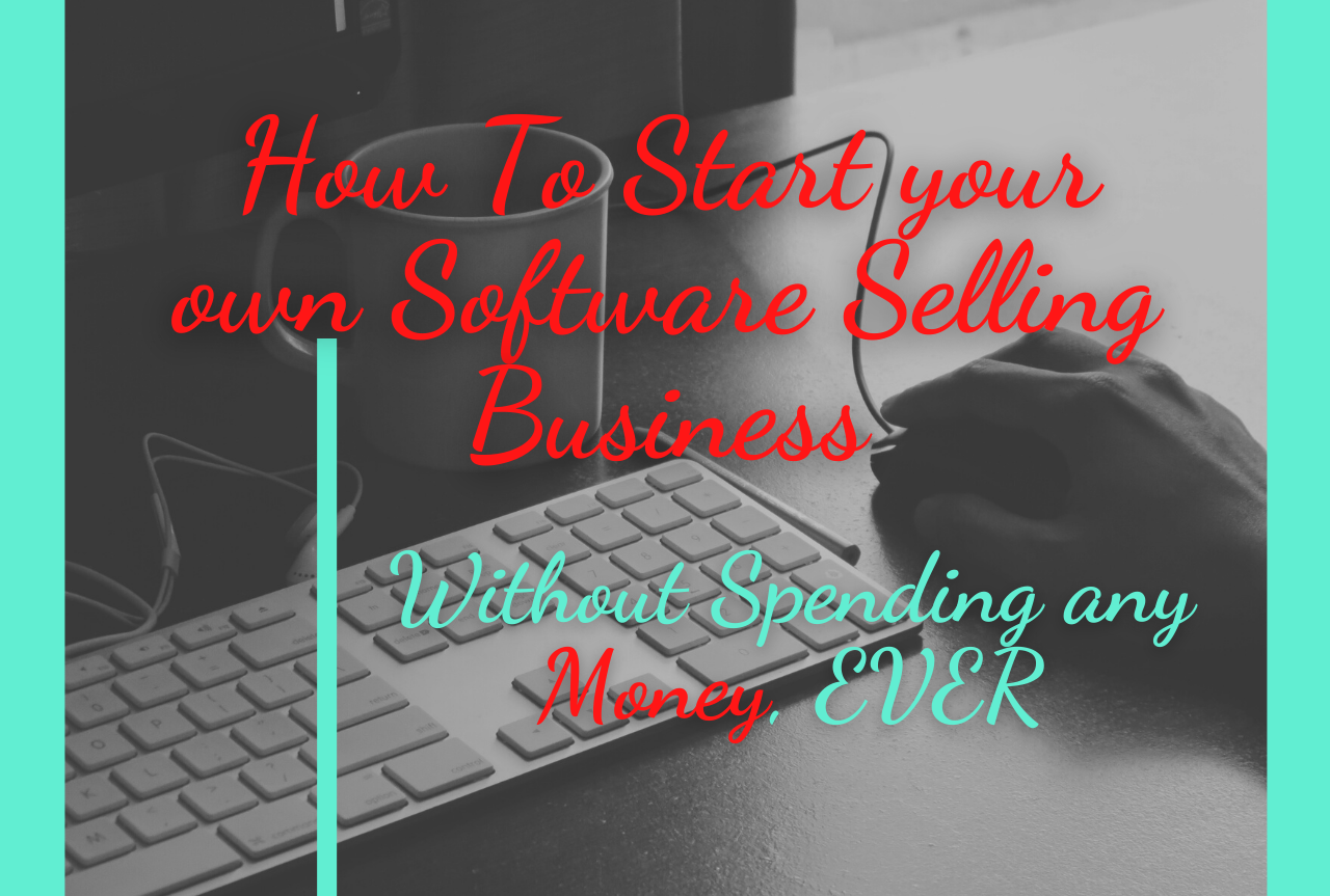 How to start your own software selling business without spending any money,  EVER