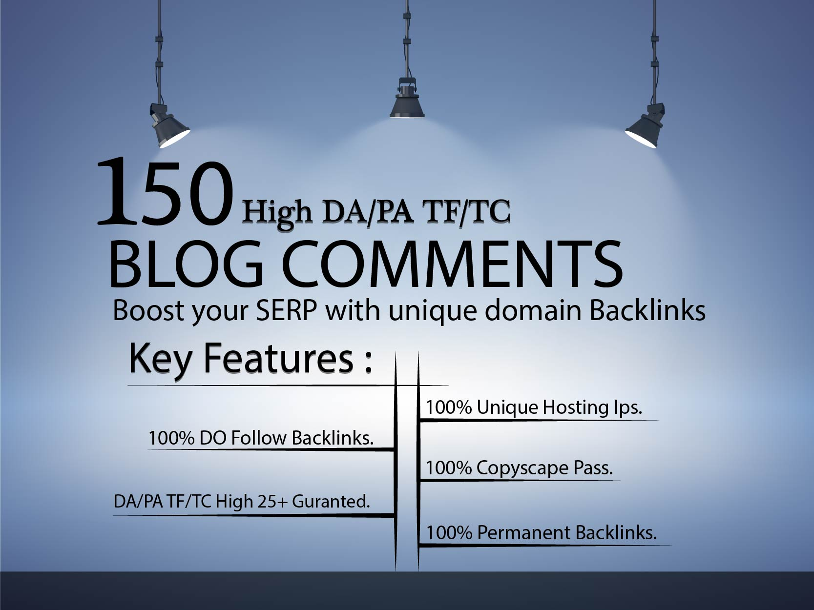 I will do 150 unique domain dofollow Blog comments backlinks