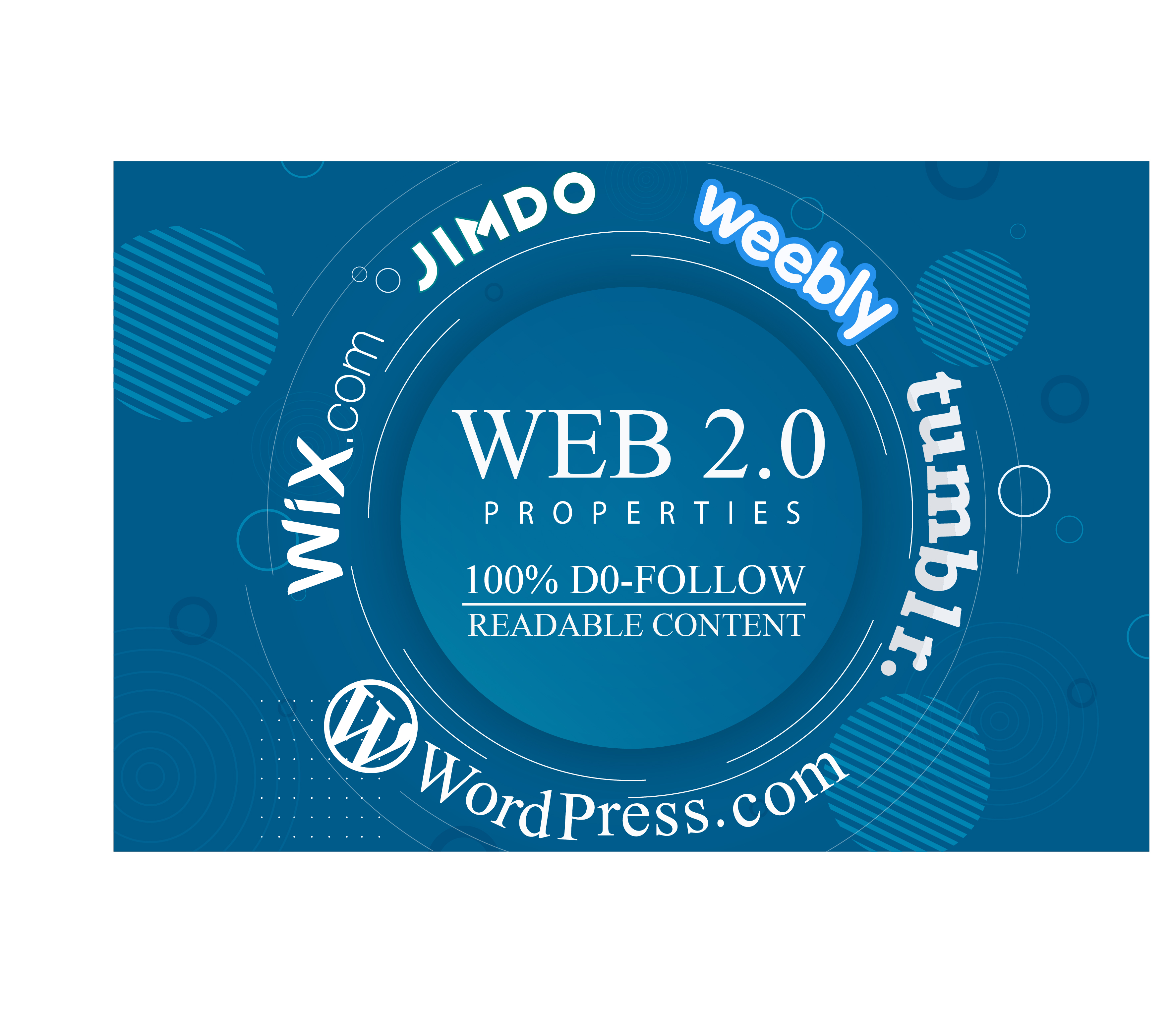 Skyrocket your website with 20 High Authority Web 2.0 backlinks.